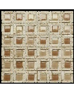 MOSAICO ITALIANO RODI TRAVERTINO BEIGE BOXER - 0141/VMTC43