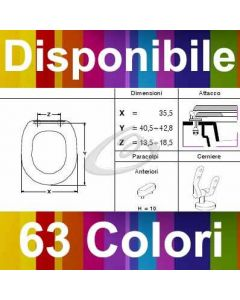 COPRIWATER CADET AMERICAN STANDARD - DISPONIBILE IN 63 COLORI - MADE IN ITALY