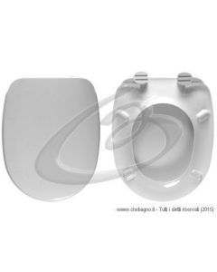 ELEGANCE LAPINO CERAMIC SEDILE WC TERMOINDURENTE COPRIWATER BIANCO MADE IN ITALY