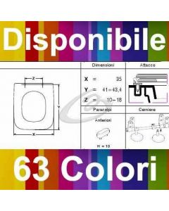 COPRIWATER ELISEO 55 NEROCERAMICA - DISPONIBILE IN 63 COLORI - MADE IN ITALY