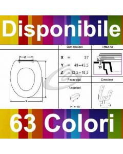 COPRIWATER GALERIE TWYFORD - DISPONIBILE IN 63 COLORI - MADE IN ITALY
