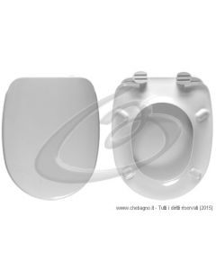 AMBRA GSG SEDILE WC TERMOINDURENTE COPRIWATER BIANCO MADE IN ITALY