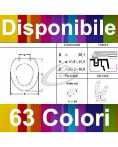COPRIWATER JUST50 NEROCERAMICA - DISPONIBILE IN 63 COLORI - MADE IN ITALY