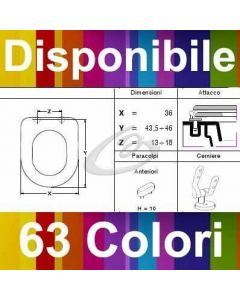 COPRIWATER NK ONE NOKEN DESIGN - DISPONIBILE IN 63 COLORI - MADE IN ITALY