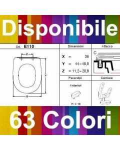 COPRIWATER ONYX IDEAL SANITAIRE - DISPONIBILE IN 63 COLORI - MADE IN ITALY