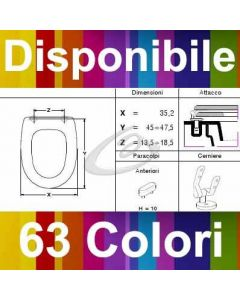 COPRIWATER OPAL LAPINO CERAMIC - DISPONIBILE IN 63 COLORI - MADE IN ITALY