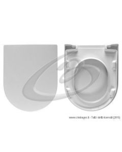 SOFT COMFORT 55 NEROCERAMICA SEDILE WC TERMOINDURENTE COPRIWATER AVVOLGENTE BIANCO MADE IN ITALY