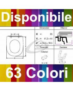 COPRIWATER STATUS SANINDUSA - DISPONIBILE IN 63 COLORI - MADE IN ITALY