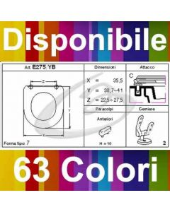 COPRIWATER ZERO 45x35 CATALANO - DISPONIBILE IN 63 COLORI - MADE IN ITALY