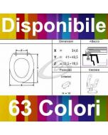COPRIWATER RUBIS IDEAL SANITAIRE - DISPONIBILE IN 63 COLORI - MADE IN ITALY