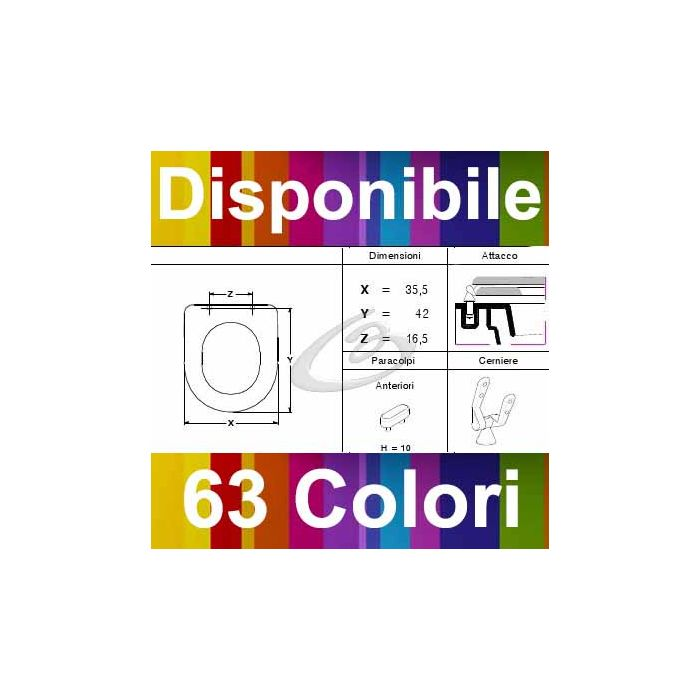Copriwater Ideal Standard Esedra Disponibile In 63 Colori Made In Italy