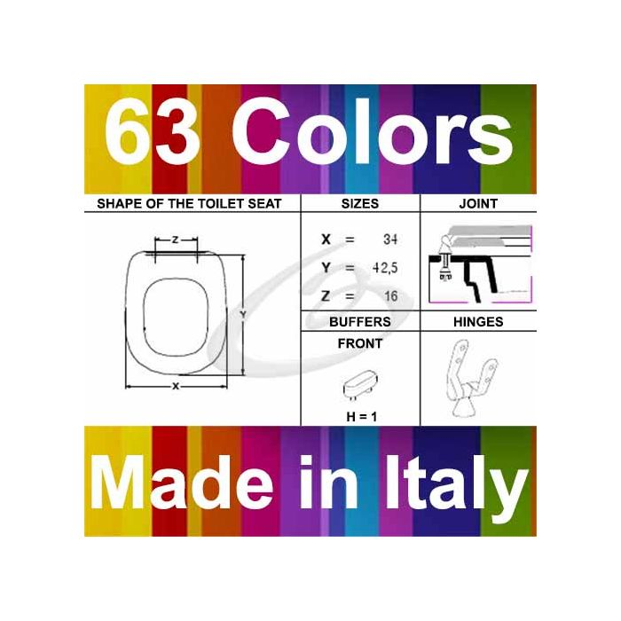 Copriwater Ideal Standard Tesi Disponibile In 63 Colori Made In Italy