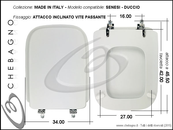 Copriwater senesi duccio disponibile in 63 colori made for Misure copriwater ideal standard