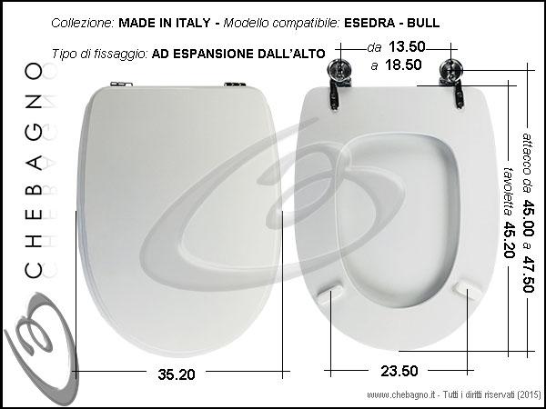 Copriwater Esedra Bull Sospeso Disponibile In 63 Colori Made In Italy