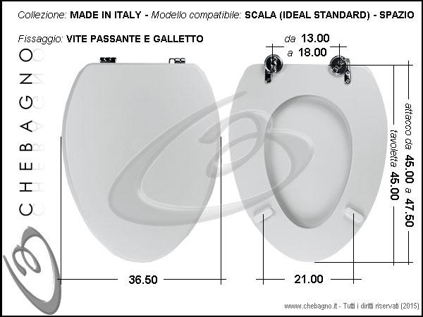 COPRIWATER SCALA SPAZIO - DISPONIBILE IN 63 COLORI - MADE IN ITALY