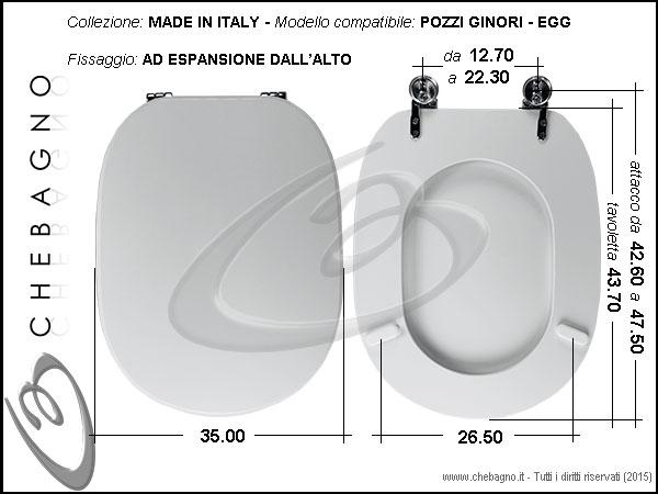Pozzi Ginori Sedile Wc.Copriwater Egg Pozzi Ginori Disponibile In 63 Colori Made In Italy