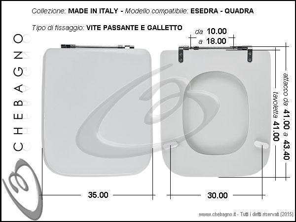 Copriwater Esedra Quadra Disponibile In 63 Colori Made In Italy