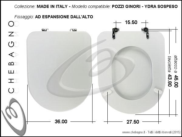 Ydra Pozzi Ginori Sedile.Copriwater Pozzi Ginori Ydra Sospeso Disponibile In 63 Colori