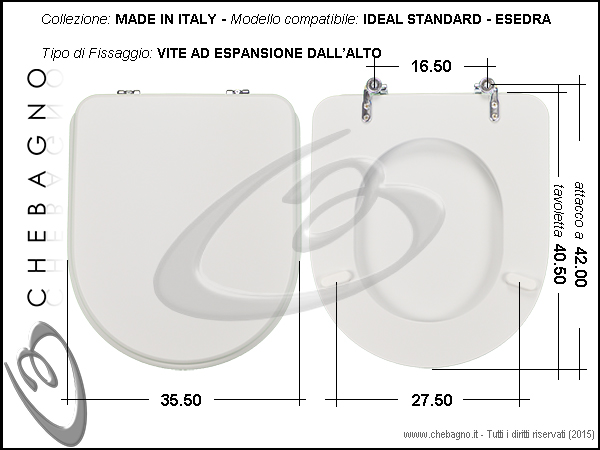 Ideal Standard Esedra Sedile.Copriwater Ideal Standard Esedra Disponibile In 63 Colori Made In Italy