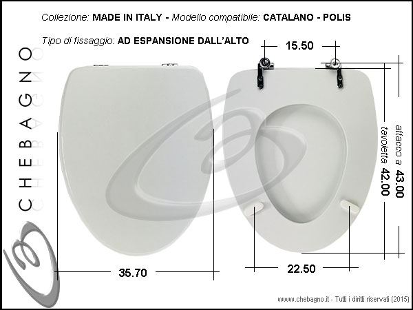 Copriwater catalano polis disponibile in 63 colori for Tavoletta wc dolomite